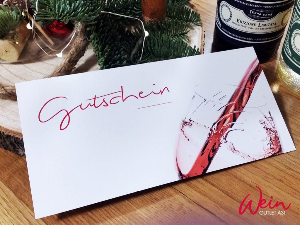 Der Gutschein vom WeinOutlet A31